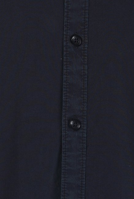Basics Navy Solid Shirt