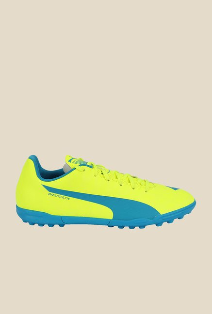 Puma EvoSpeed 5.4 TT Safety Yellow & Blue Football Shoes