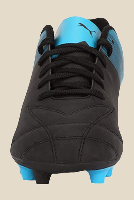 Puma Adreno II FG Black & Atomic Blue Football Shoes