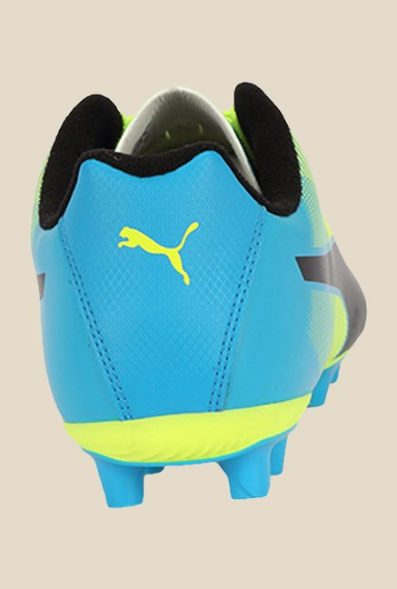 Puma Adreno II FG Safety Yellow & Blue Football Shoes