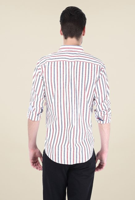 Basics White Striped Shirt