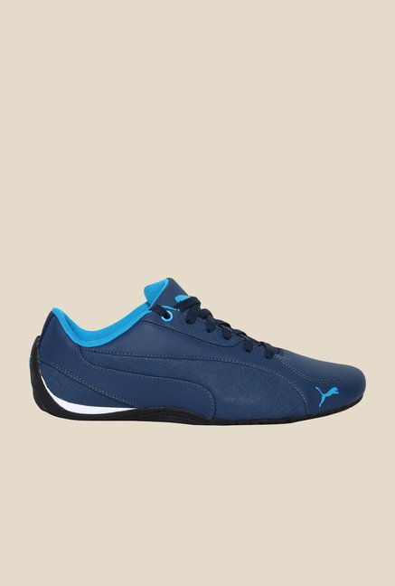 Puma Drift CAT 5 LEA Blue Wing Teal Sneakers