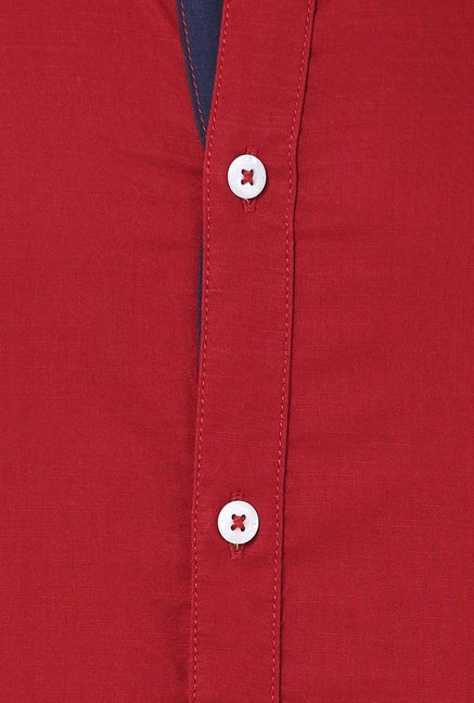 Basics Red Solid Shirt