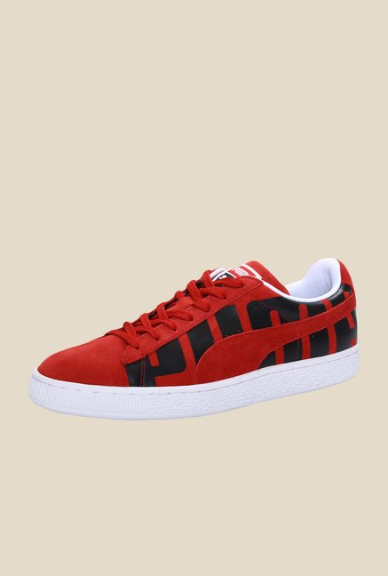 Puma Suede Classic Big Logo High Risk Red & Black Sneakers