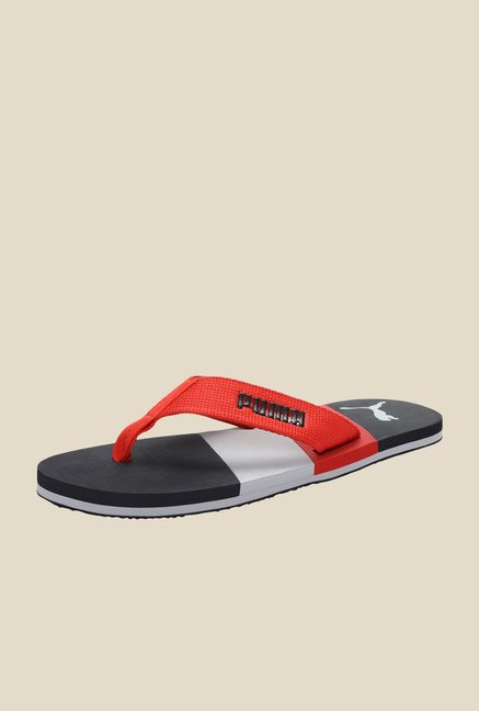 Puma Robby DP High Risk Red & Black Flip Flops