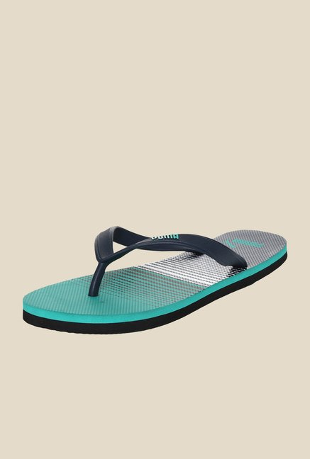 Puma Sam DP Blue Wing Teal & Atlantis Flip Flops