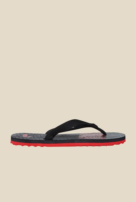 Puma Miami NG DP Black & Ribbon Red Flip Flops