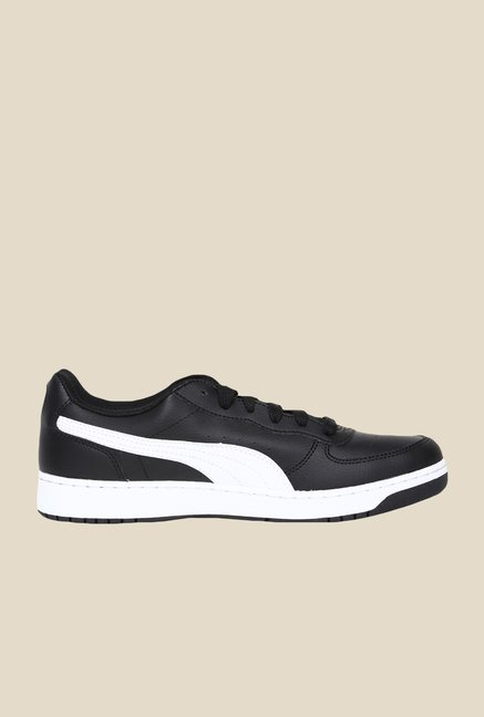 Puma Rebound V3 Black & White Sneakers