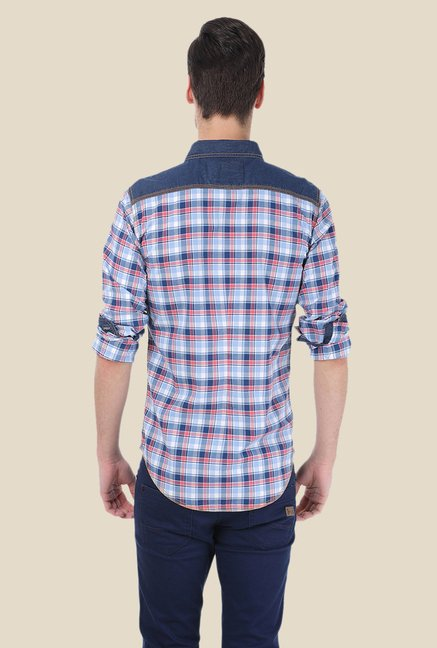 Basics Blue & Pink Checks Shirt