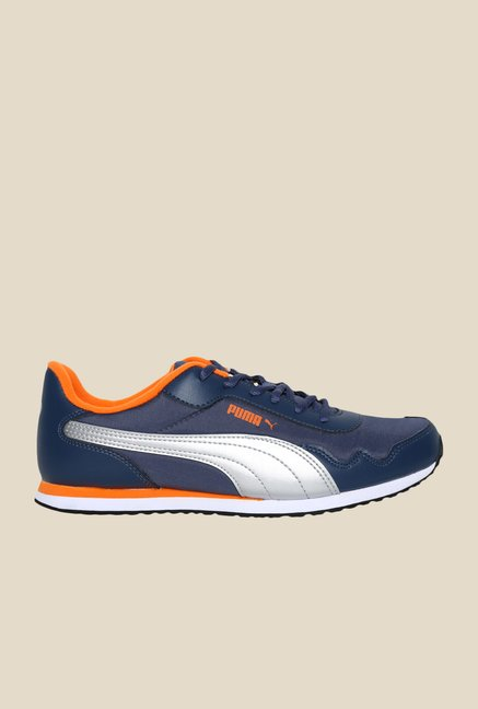 Puma Epoch DP Dark Denim & Silver Sneakers