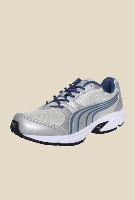Puma Strike II DP Grey & Silver Running Shoes