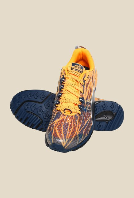 Puma Faas 300 TR V3 NC CAMO Orange Pop & Blue Running Shoes