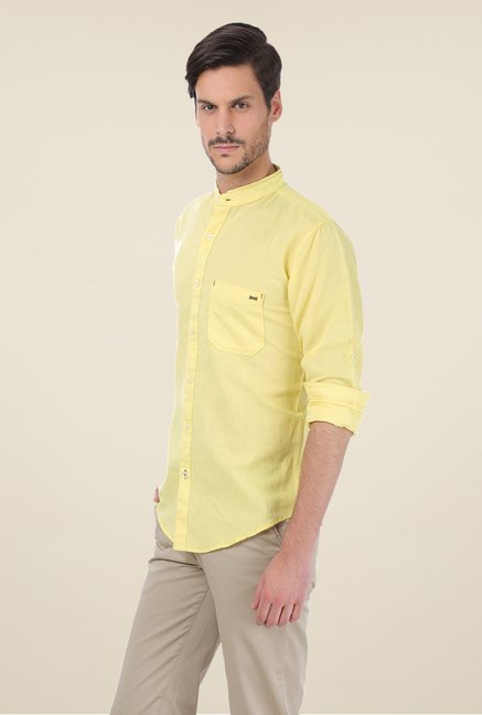 Basics Yellow Solid Shirt
