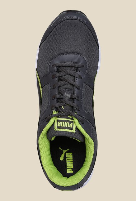 Puma Harbour DP Darkshadow & Lime Running Shoes