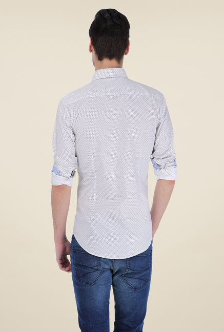 Basics White Printed Shirt