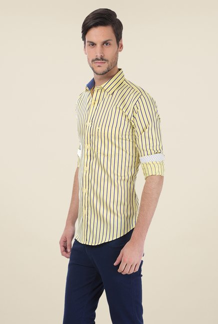 Basics Yellow Striped Shirt