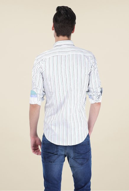 Basics Off White Striped Shirt