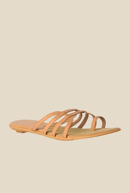Bata Westwood Beige Toe Ring Sandals
