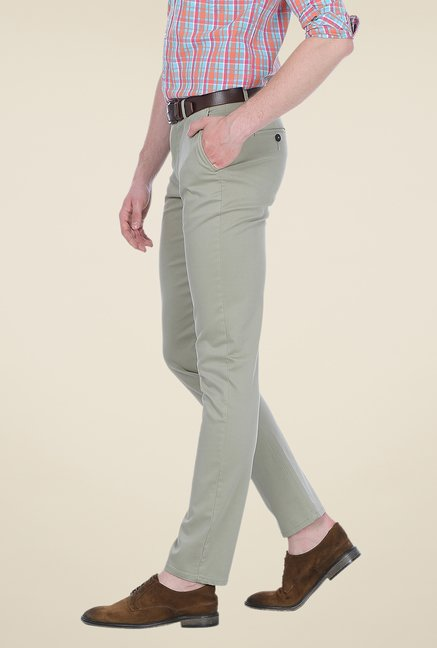 Basics Grey Solid Trousers