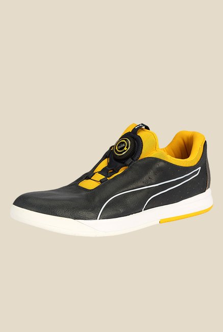Puma IRBR Disc Total Eclipse & Spectra Yellow Casual Shoes