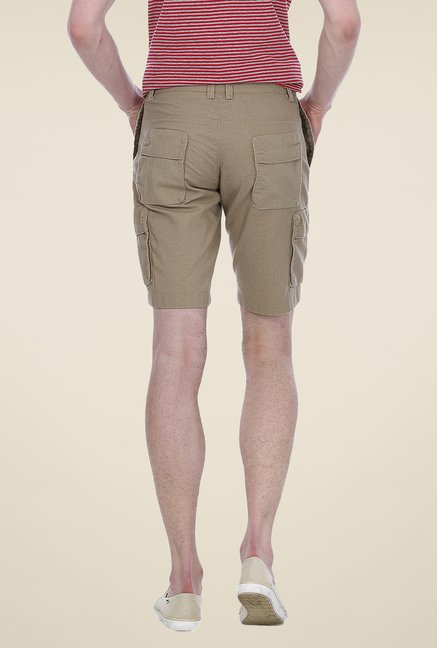 Basics Beige Solid Shorts