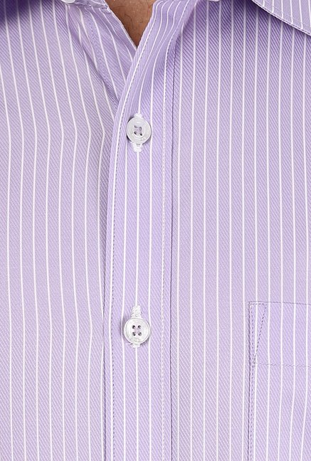 Basics Purple Pin Striped Shirt