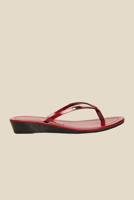 Bata Claresta Red Thong Sandals