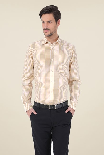 Basics Beige Checks Shirt