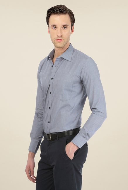 Basics Navy Checks Shirt