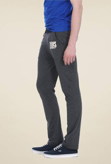 Basics Grey Solid Trackpants