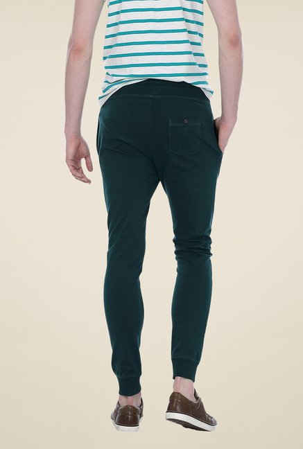 Basics Green Solid Joggers