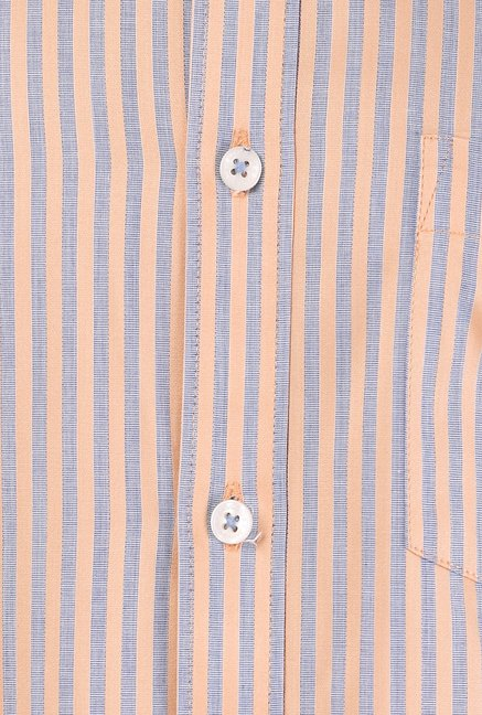 Basics Peach Striped Shirt