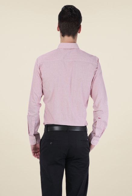 Basics Light Pink Checks Shirt