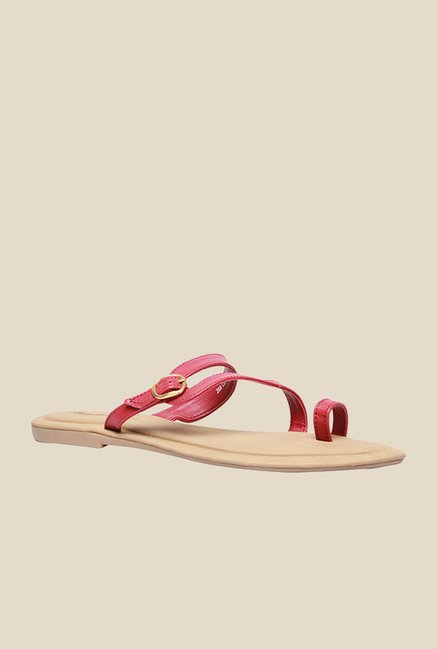 Bata New Pink Toe Ring Sandals