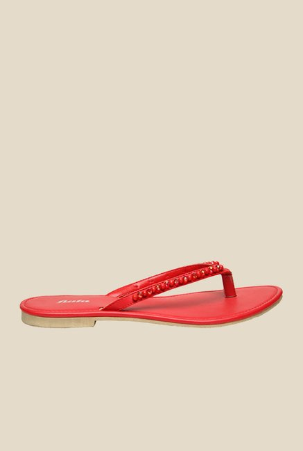 Bata Scarlett Red Thong Sandals