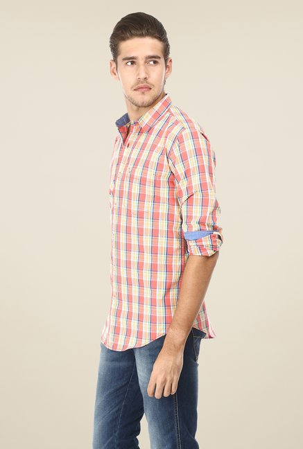 Basics Coral Checks Shirt