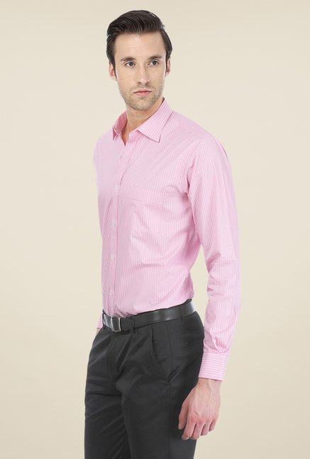 Basics Pink Pin Striped Shirt