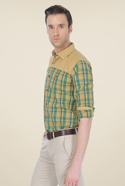 Basics Khaki Checks Shirt