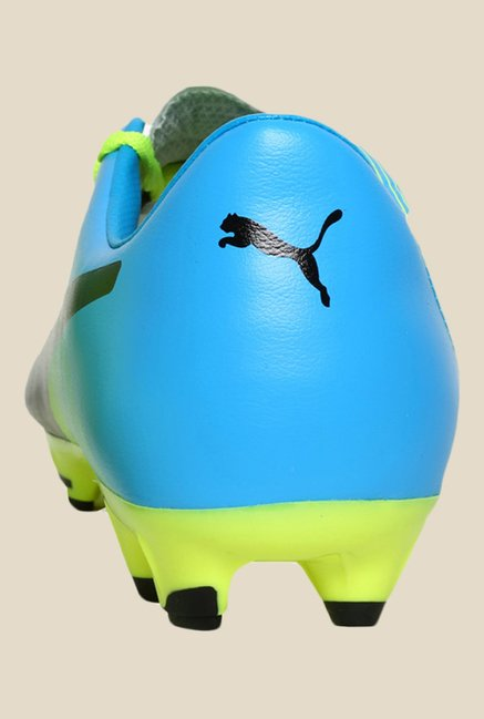 Puma EvoPower 3.3 FG Safety Yellow & Blue Running Shoes