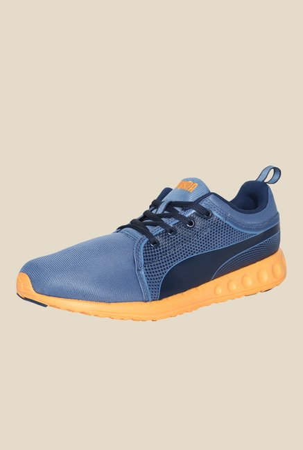 Puma Carson Runner Inno DP Blue & Orange Pop Running Shoes