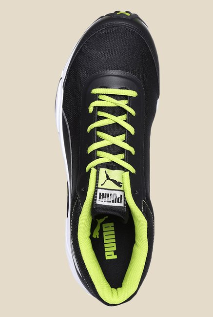 Puma Nautical DP Black & Lime Punch Running Shoes