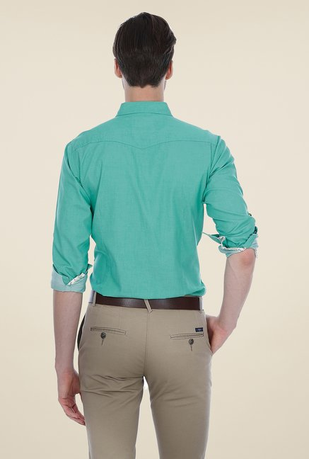 Basics Teal Solid Shirt