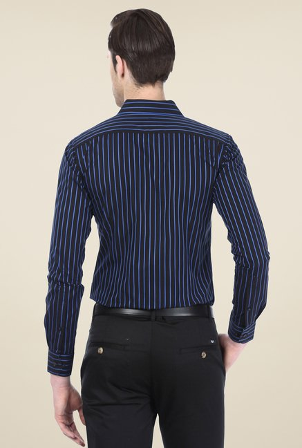 Basics Navy Striped Shirt