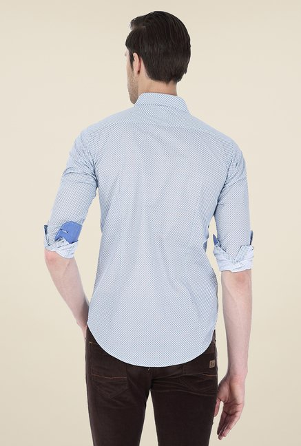 Basics Light Blue Printed Shirt