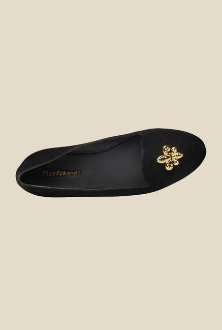 Sandak Crown Black Ballet Flats