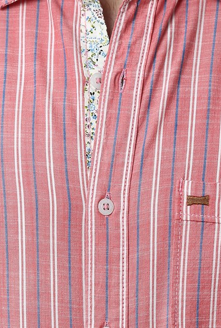 Basics Pink Striped Shirt