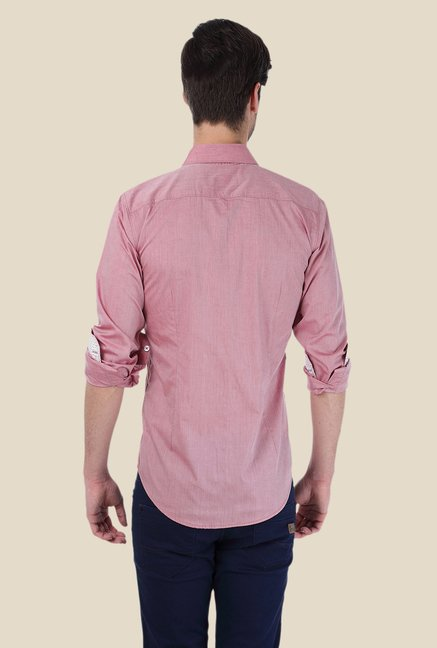 Basics Pink Solid Shirt