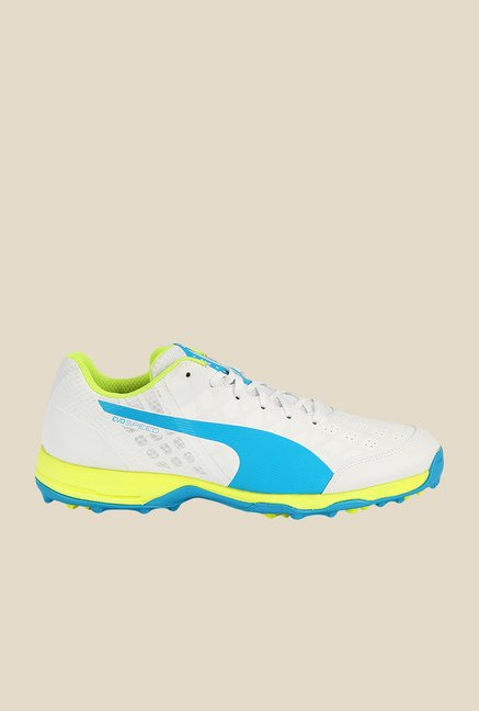 Puma EvoSpeed R 3.4 White & Atomic Blue Football Shoes