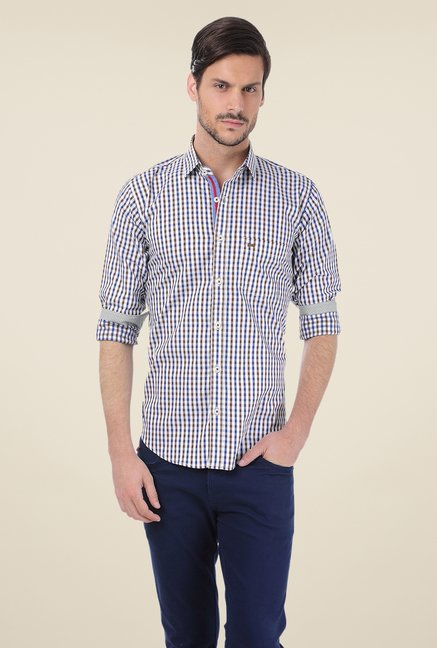 Basics Brown Checks Shirt