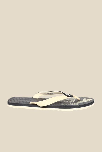 Puma Miami Fashion II DP Black & Creampuff Flip Flops